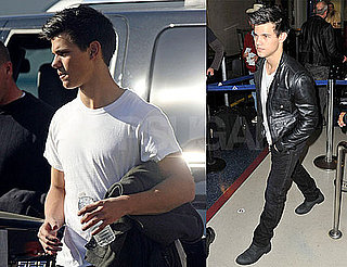 Photos of Jason Trawick And Taylor Lautner on the Set of Valentines Day