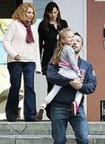 Photos of Ben, Jen and Violet at School
