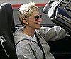 Slide Photo of Ellen Degeneres Driving With Top Down In LA