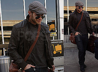 Photos of New Moon Star Kellan Lutz In All Black Arriving at LAX After Miami