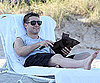 Slide Photo of Benjamin McKenzie Relaxing on the Beach in Miami