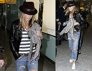 Photos of Jennifer Aniston at Heathrow