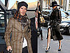 Photos of Victoria Beckham Wearing a Large Black Hat While David Arrives in Heathrow