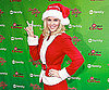 Slide Photo of Jenny McCarthy Dressed at Santa