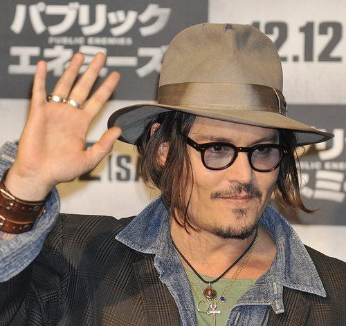 Photos of Johnny Depp Promoting Public Enemies in Japan
