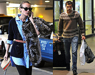 Photos of Diane Kruger and Joshua Jackson Arriving at LAX Together