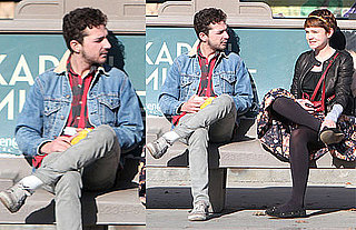 Photos of Shia LaBeouf and Carey Mulligan Hanging Out at a Bus Stop in LA