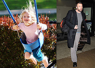 Photos of Ben Affleck Arriving at LAX and Violet Playing With Ducks At the Park