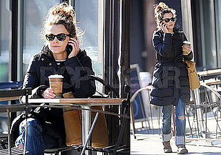 Photos of Keri Russell Getting Coffee in NYC