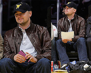 Photos of Leonardo DiCaprio at a Lakers Game in LA 2009-12-14 11:30:56