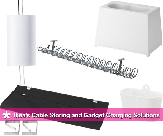 Ikea's Affordable Cable Storing and Gadget Charging Solutions