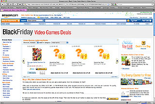Black Friday Video Game Deals Pop Up on Amazon