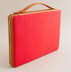Sleek, Organic Leather Laptop Case from J.Crew