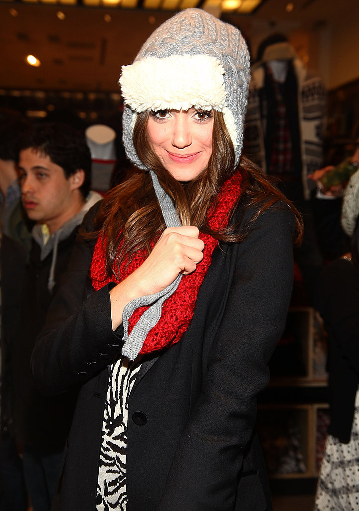 Emmy Rossum in a Trapper Hat