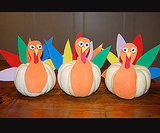 Paper and Pumpkin Thanksgiving Turkeys For the Table
