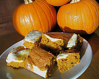 Healthy T-Day Dessert: Pumpkin-Carrot Bars With Cream Cheese Frosting