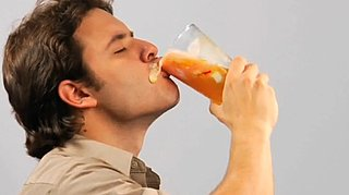 Man Drinks Fat For Antisoda Ad