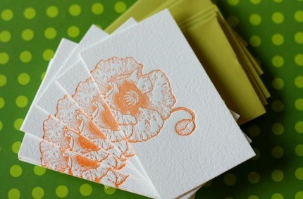 These Poppy Letterpress Cards ($11) will let you specify each guest's place at the table.