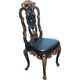 This Ventian Black Lacquer and Gilt Handcarved Desk Chair ($1,400) is from the 1940s, and seems like it would be welcomed with open, cold arms by the Volturi.