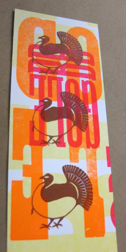 I love the colors and graphics on this Thanksgiving Day Card ($4.50).