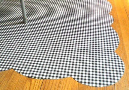A Gingham Oilcloth ($20) is perfect for placing under your baby's high chair, since it is stain-resistant and wipes clean.