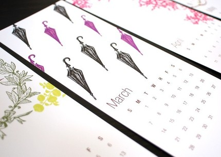 The Turtle Papers Calendar ($18) features stationery designs from Turtle Papers and is printed on heavy cardstock.