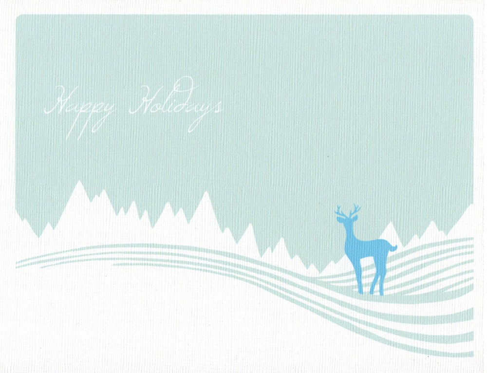 Oh deer! Aren't these Winter Deer Cards ($8 for four) elegant and hip? They're sweet and simple with a calming color scheme.