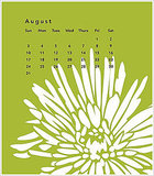 Recycle your 2009 calendar by using its pretty images for wrapping paper. Source