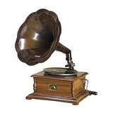 You can also add a (non-whitewashed) classic gramophone to your home. This Phonograph Replica ($140) will look charming in your home.
