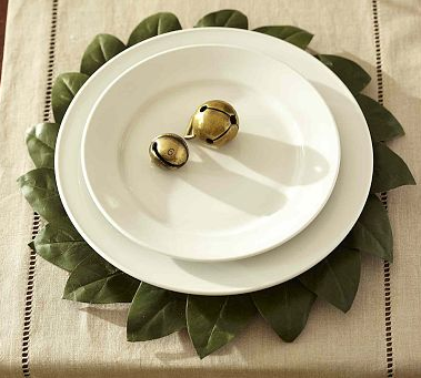 Make your own charger by arranging leaves in a circle below your dinner plates!