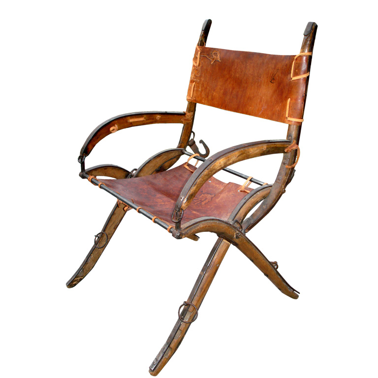 This Folk Art Chair ($1,800) was made from horse tack.