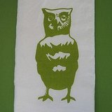 This Screenprinted Owl Tea Towel ($11) offers a more modern take on the owl motif.