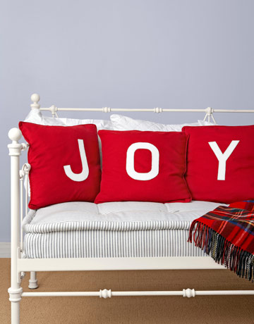 Country Living has an easy DIY for making holiday pillows.