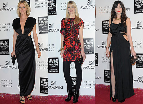 Photos from the Red Carpet at the 2009 British Fashion Awards