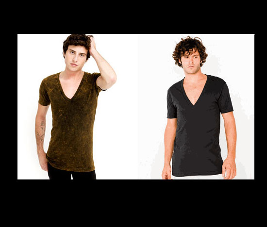 Low V-Neck Shirts