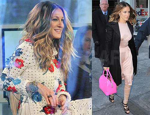 Photos of Sarah Jesscia Parker Arriving for Interviews in NYC