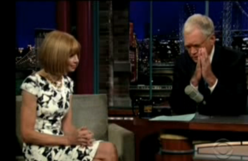 Anna made a cameo on David Letterman to promote The September Issue. No doubt, she held her own with funny humor and even complimented David's socks!