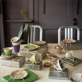For a brunch or Secret Santa party, scatter gifts on the table.  Source