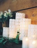 Use eyelet to create unforgettable pillar candles for a friend.