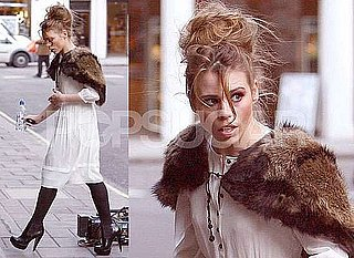 Photos of Billie Piper Filming Secret Diary of a Call Girl Series 3