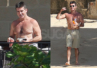Photos of Simon Cowell Shirtless on Vacation in the Caribbean 2009-12-22 09:00:00