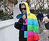 Slide Photo of Gwen Stefani in Colorful Coat in London
