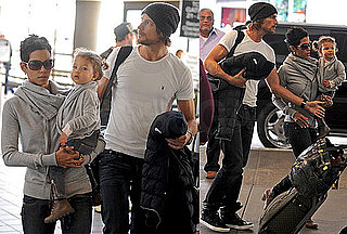 Photos of Halle Berry, Nahla and Gabriel Aubrey at LAX Heading Away for Holidays