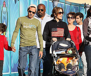 Slide Photo of Jennifer Lopez and Marc Anthony At Disneyland on Christmas Eve