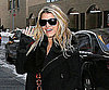 Slide Photo of Jessica Simpson Waving and Smiling in NYC
