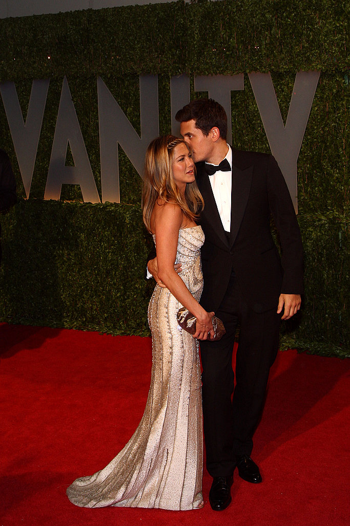 Right: Jennifer Aniston and John Mayer Split