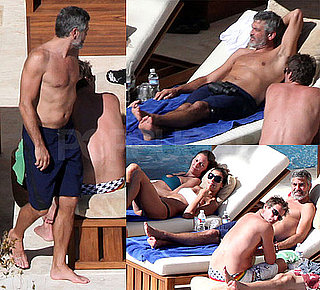 Photos of George Clooney, Rande Gerber, and Elisabetta Canalis in Mexico