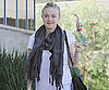 Slide Photo of Dakota Fanning at the Gym in LA