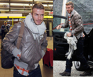 Photos of David Beckham Arriving in Milan After Christmas