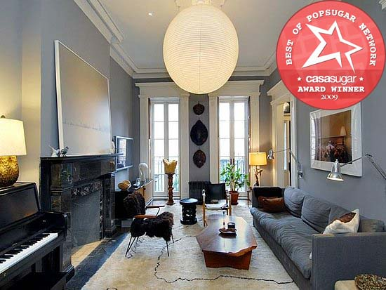 Julianne Moore's West Village late 1800s townhouse, decorated by the lady herself, was meticulously renovated, retaining original architectural details, and infused with understated worldly style. Source